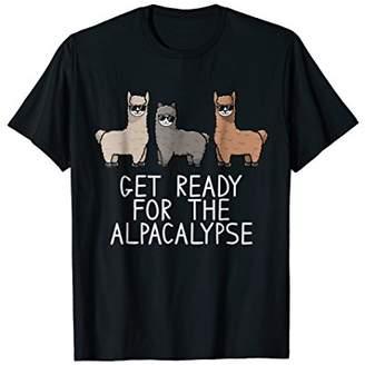Funny Get Ready For The Alpacalypse Alpaca Shirt