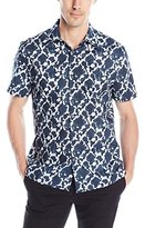 Perry Ellis Men's Exclusive Two Color Print Shirt