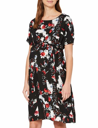 New Look Maternity Women's Bonnie Mix And Match Belted Knee-Length Dress