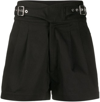 Diesel high-waisted buckled shorts