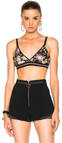 3.1 Phillip Lim Meadow Flower Embroidered Bralette in Black,Floral,Pink,Yellow.