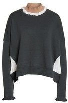 Undercover Women's Ruffled Mock Neck Sweater
