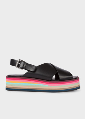 Paul Smith Women's Black Leather 'Becca' Platform Sandals