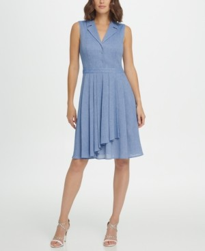 DKNY Sleeveless Fit & Flare Shirtdress