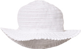 Grevi White Tiered and Broderie Anglaise Sun Hat