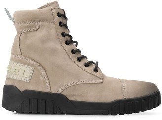 Diesel Lace-Up Cargo Boots