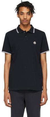 Moncler Navy Logo Patch Polo