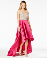 Say Yes to the Prom Juniors' Embellished High-Low Gown, A Macy's Exclusive