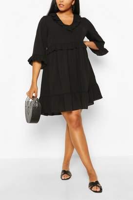 boohoo Plus Kimono Sleeve Smock Dress
