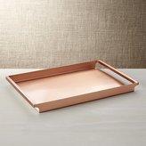 Crate & Barrel Orb Copper Tray