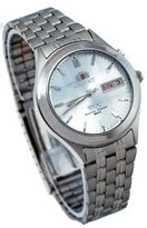 Orient #BEM5V002W Men's Facet Glass Stainless Steel Automatic Watch
