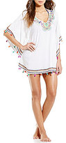 Trina Turk Paisley Embroidered Caftan Cover-Up