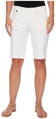 Lauren Ralph Lauren Stretch Cotton Shorts (Navy) Women's Shorts