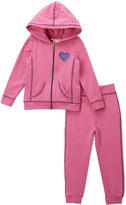 Juicy Couture Pink & Navy Heart Hoodie & Sweatpants - Infant Toddler & Girls