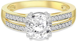 9ct Gold Cubic Zirconia Solataire Ring