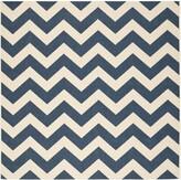 "Sherree Cotton Navy/Beige Area Rug Wrought Studio Rug Size: Square 6'7"""