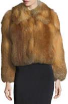 A.L.C. Lex Long-Sleeve Fox-Fur Coat