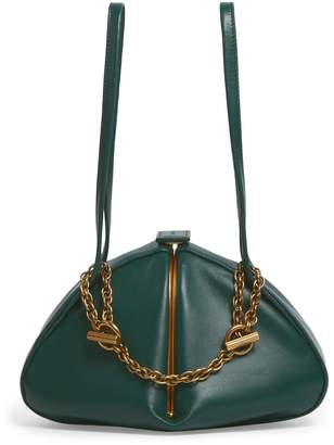 Rodo Leather Top Handle Triangle Bag