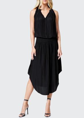 Ramy Brook Audrey Sleeveless Blouson Midi Dress