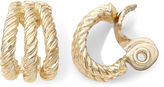 JCPenney MONET JEWELRY Monet Gold-Tone Textured Rope Clip-On Earrings
