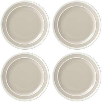 Kate Spade 4-Piece Sculpted Stripe Dinner Plate Set