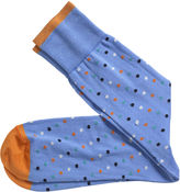Johnston & Murphy Diagonal Dot Socks