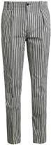 Etro Stripe-print cotton-blend trousers