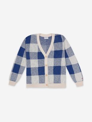 Bobo Choses Long Sleeve Knitted Gingham Cardigan - M