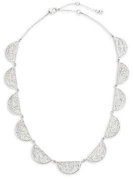 Kate Spade Women's Silvertone Pavé Collar Necklace