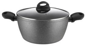 """Amercook Aluminum Casserole Glass Lid with Induction Buttom 9.5"""""""