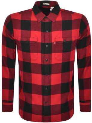 Levi's Levis Long Sleeved Jackson Worker Shirt Red