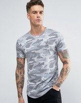 Gym King Logo T-Shirt In Muscle Fit Camo