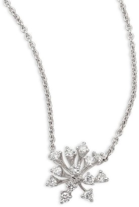 Hueb Modern Diamond & 18K White Gold Pendant Necklace