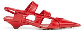 Bottega Veneta Leather Point Sandals 30
