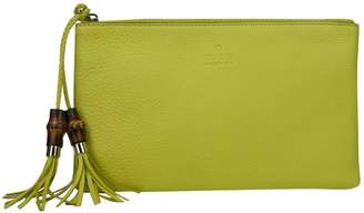 Gucci Yellow Leather Purses, wallets & cases