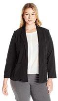 Briggs New York Women's Plus-Size Bistretch Long-Sleeve Jacket