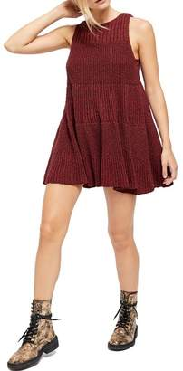 Free People Waterfall Ruffle Knit Swing Dress