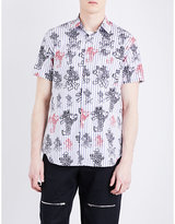 Comme Des Garcons Shirt Stripe-print Cotton Shirt