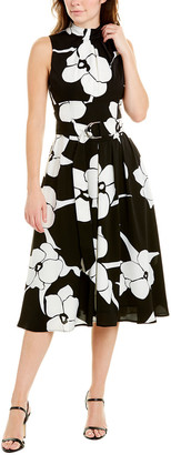 Gracia Shirred A-Line Dress