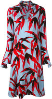 Marni leaf-print dress