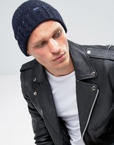Jack Wills Lambswool Beanie In Navy