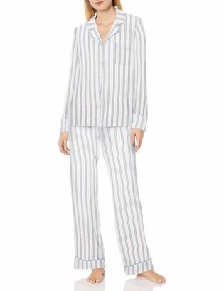 Splendid Women's Super Soft Brushed Knit Long Sleeve Notch Collar Pajama Set