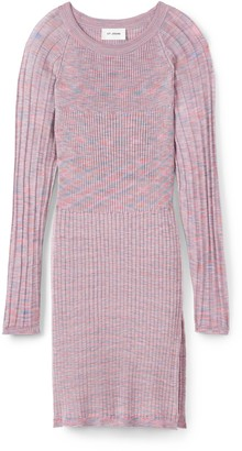 St. John Viscose Contrast Rib Knit Sweater
