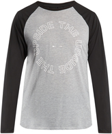 The Upside Logo-printed raglan-sleeve performance top