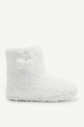 Ardene Faux Fur Bootie Slippers