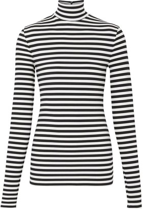 Burberry Black And White Mock Collar Jumper