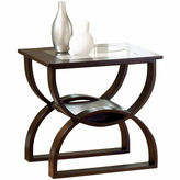 Asstd National Brand Glass Top End Table