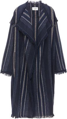 Etoile Isabel Marant Julicia Striped Fringed Jacquard-Knit Jacket
