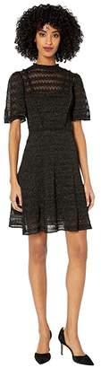 M Missoni United Lurex Dress (Black) Women's Clothing