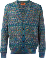 Missoni v-neck cardigan - men - Cotton/Linen/Flax/Nylon/Rayon - 52